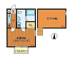 東京都三鷹市井の頭1丁目の賃貸アパートの間取り