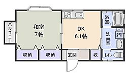 M&K HOUSE D[2号室]の間取り
