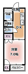 KTマンション[3階]の間取り