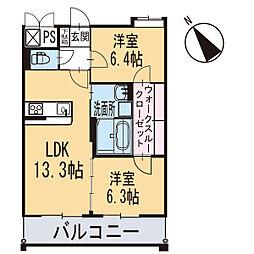 新築エトワール[104号室]の間取り