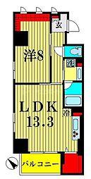 ザ アークトゥルス スピカ 8階1LDKの間取り
