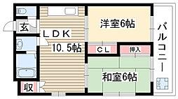 愛知県名古屋市名東区八前1の賃貸マンションの間取り