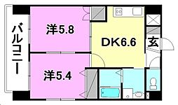 グランベール6[702 号室号室]の間取り