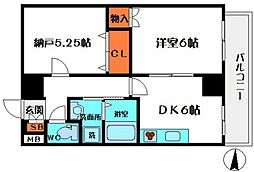 HERITAGE高井田[2階]の間取り
