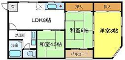 松宏コーポ[2階]の間取り