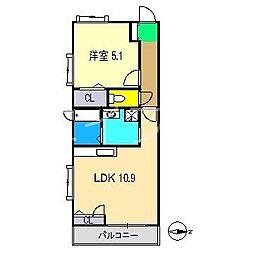 シャーメゾン・ノワ・ドゥ・ココ[1階]の間取り