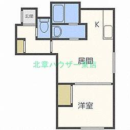 北海道札幌市東区北二十四条東3丁目の賃貸アパートの間取り