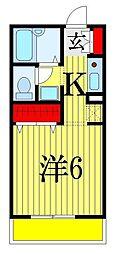 千葉県船橋市前原西8丁目の賃貸アパートの間取り