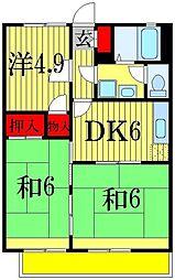 グレース田喜野井 II番館[2階]の間取り
