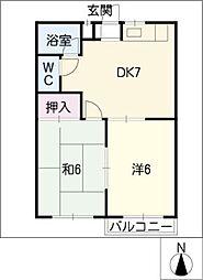 ヨコイハウス3[1階]の間取り