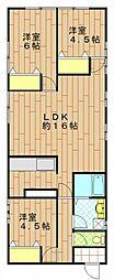 抱井アパート[1階]の間取り