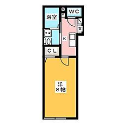 仮称)南池袋3丁目新築計画 2階1Kの間取り