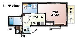 リップハウス[3B号室]の間取り