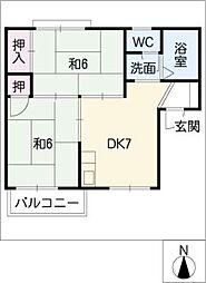 ラフォーレ南岩崎[1階]の間取り