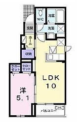 ビサイド鮎壺[1階]の間取り