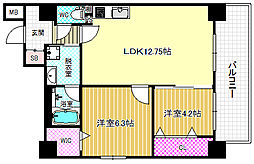 デセンテ北梅田[2階]の間取り