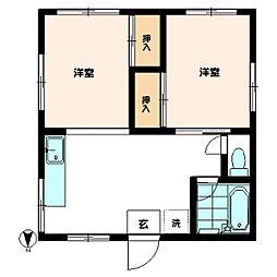 川崎アパート[201号室]の間取り