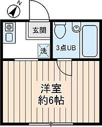 東京都北区赤羽西1丁目の賃貸アパートの間取り