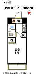 フラッツ東湘[306号室号室]の間取り