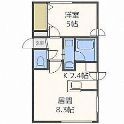 BanbiniN[4階]の間取り