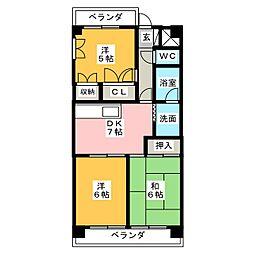 七福マンション[3階]の間取り