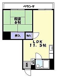名島ビル[303号室]の間取り