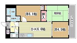 兵庫県神戸市須磨区平田町1丁目の賃貸マンションの間取り