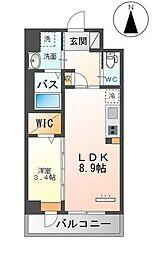 Grandeur Hakata 4階1LDKの間取り