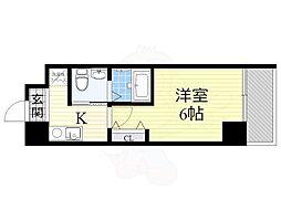 南海高野線 萩ノ茶屋駅 徒歩2分の賃貸マンション 1階1Kの間取り