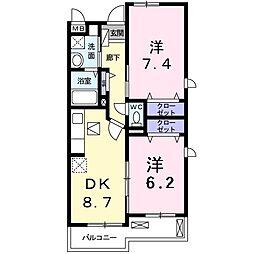 プロムナード和泉[1階]の間取り