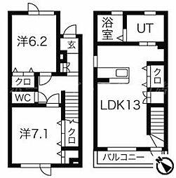 [テラスハウス] 北海道札幌市東区伏古三条5丁目 の賃貸【/】の間取り
