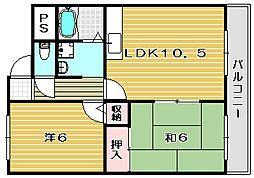 プレジデント[4階]の間取り