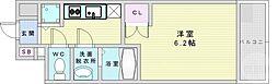 Osaka Metro御堂筋線 梅田駅 徒歩17分の賃貸マンション 6階1Kの間取り