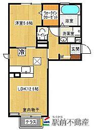 ラ・ルーチェ新栄[1階]の間取り