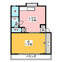 井上コーポ[1階]の間取り