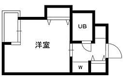 東京都目黒区大橋1丁目の賃貸マンションの間取り