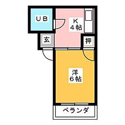 太国レジデンス[2階]の間取り