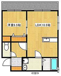 Lecielclair[2階]の間取り