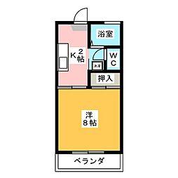 ロジュマンYOU[2階]の間取り