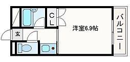 大阪府高槻市富田町3の賃貸マンションの間取り