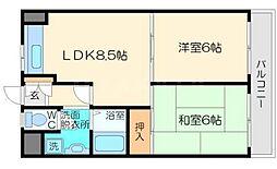 シャトラン南江口[3階]の間取り