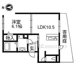 エアステージ 1階1LDKの間取り