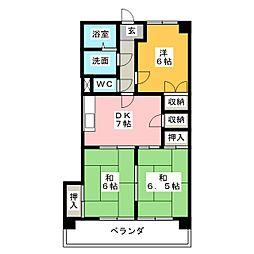 日映マンション[3階]の間取り