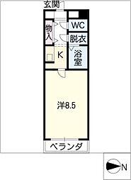 アーバンスペース駒[3階]の間取り