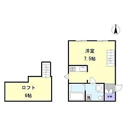 プリマ坂戸参番館[104号室]の間取り