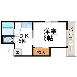 東豊ハイツ南七松[2階]の間取り