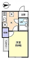 コーポミキ[2階]の間取り