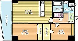 DAZZLE霧ケ丘(ダズル霧ケ丘)[10階]の間取り