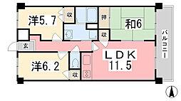 ファーレ姫路[603号室]の間取り