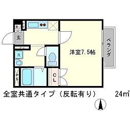 Amour松ヶ崎[2階]の間取り